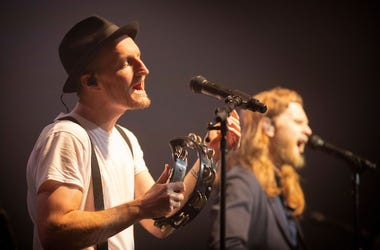 The Lumineers perform live in concert at the 93XRT Holiday Jam