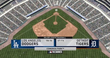 Tigers Dodgers MLB The Show