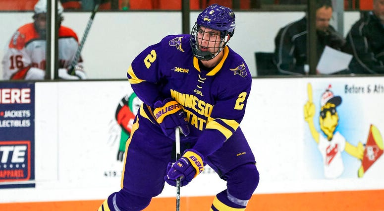 Minnesota State defenseman Connor Mackey