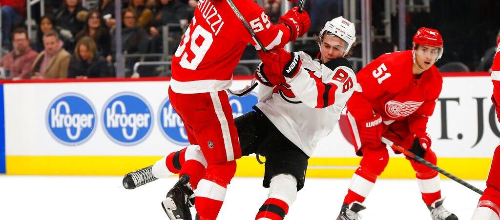 Schneider Earns First Win Of Season, Devils Beat Detroit 4-1