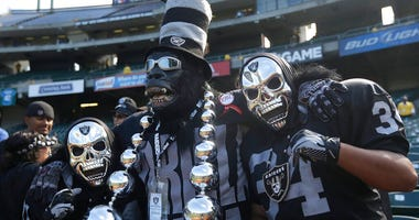 Oakland Raiders fans in the Black Hole