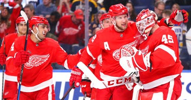 Red Wings celebrate