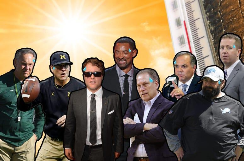 Sports Hot Seat Experiment Mark Dantonio, Jim Harbaugh, Matthew Stafford, Juwan Howard, Al Avila, Tom Izzo, Matt Patricia, Bob Quinn