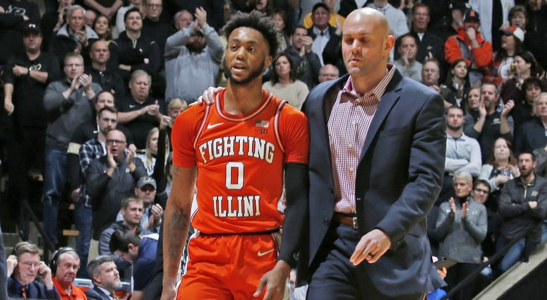 Alan Griffin escorted off the court