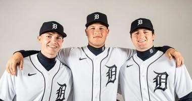 Tarik Skubal, Matt Manning and Casey Mize