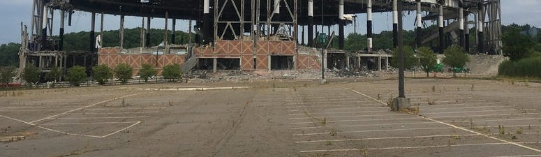 What's left of The Palace of Auburn Hills on Tuesday, June 23, 2020. (Photo: Mike Campbell/WWJ