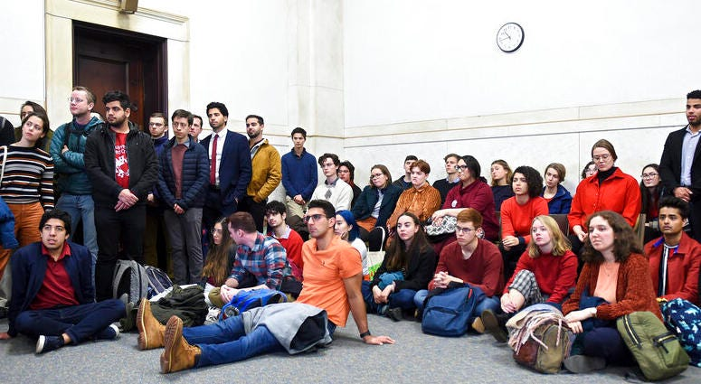 Students from Yale and Harvard University