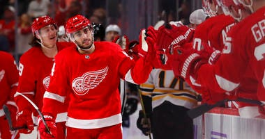 Fabbri Scores Twice In First Game, Red Wings Beat Bruins 4-2