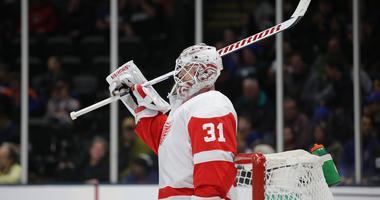 Red Wings Goalie Calvin Pickard