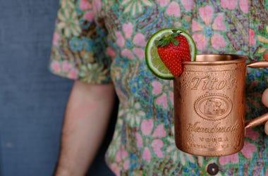 Tito's Strawberry Mule