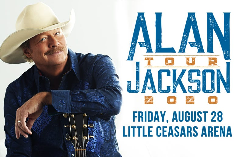 Alan Jackson Tour 2020 - Little Caesars Arena