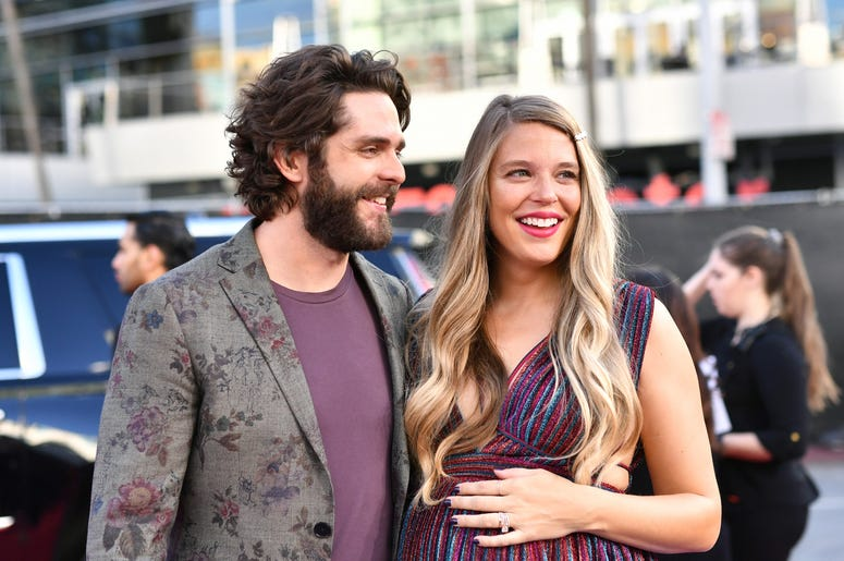 Thomas Rhett and His Wife Lauren on the Red Carpet at the 2019 American Music Awards