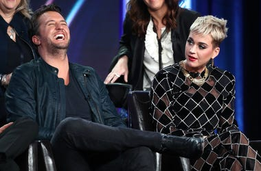Luke Bryan and Katy Perry on the Set of American Idol