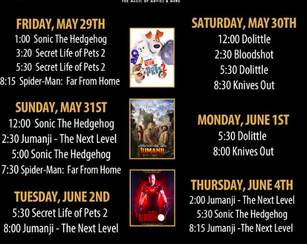 Emagine movie schedule