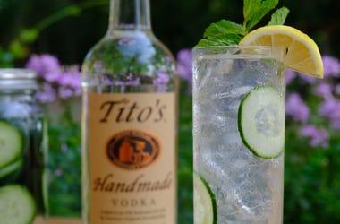 Titos Vodka Cucumber Collins
