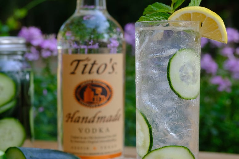 Titos Vodka Cucumber Collins