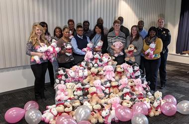Detroit Police Department with Holly Hutton and Teddy Bears