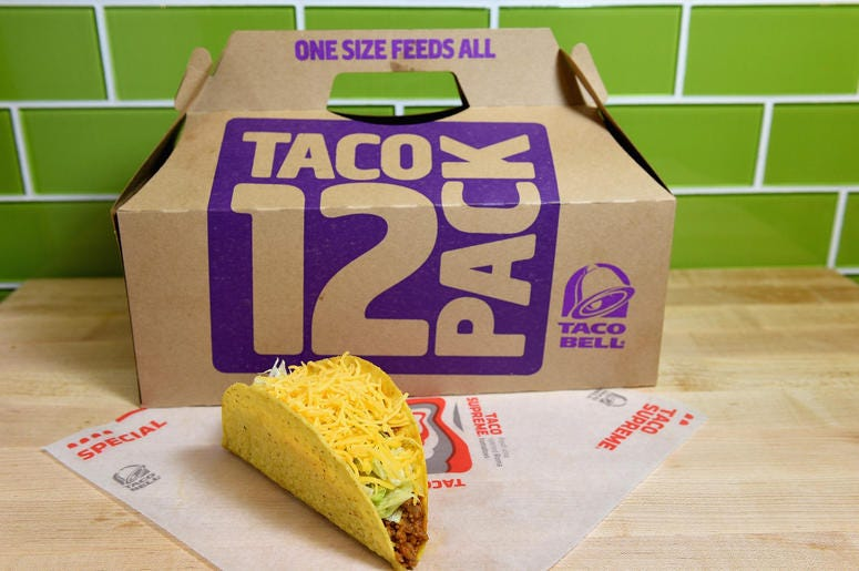 Taco Bell 12-Pack Box and Crunchy Taco