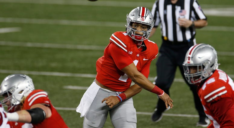 Fields Throws 5 Tds Passes No 3 Ohio State Beats Rutgers Espn Upstate
