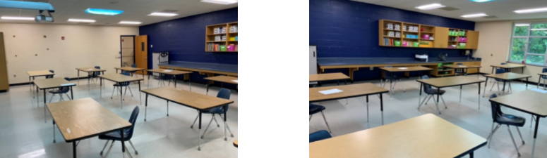 """Possible 2020 Classroom Set-Up for Greenville County """"Wishbone"""" Plan"""