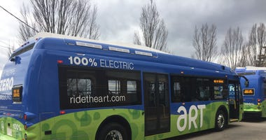 Asheville's electric Proterra buses