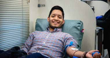 BJU student donates blood during campus blood drive to benefit The Blood Connection