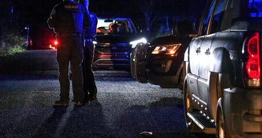 """Anderson County Sheriff Deputies at the scene of a shooting at Byron Circle, Belton address outside the city in Anderson County Thursday night. According to spokesperson JT Foster of the Anderson County Sheriff's office, \""""The Anderson County Sheriff's Of"""