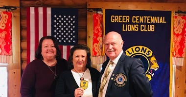 L to R – Vice President Mia Wade, Immediate Past Club President Becky Pickett and District 32S 2nd Vice District Governor Jim Barbare