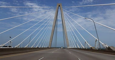 The Arthur Ravenel Jr. Bridge is a cable-stayed bridge over the Cooper River in South Carolina, connecting downtown Charleston to Mount Pleasant. It is named for Republican politician and businessman Arthur Ravenel Jr. from Charleston, South Carolina. Pho