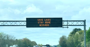 Electronic highway sign message to drivers on I-85 in Greenville County.