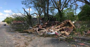 Destruction on W South 4th St. in Seneca