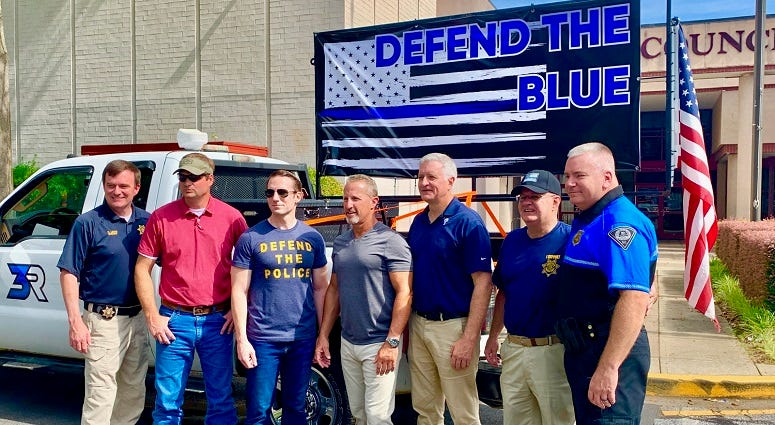 Drive to Defend the Blue Event