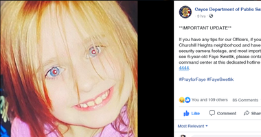 Missing 6 year old Faye Marie Swetlik