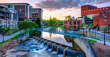 View of Downtown Greenville and the Reedy River