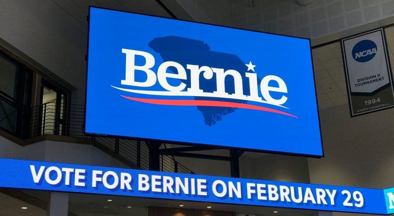 Screens at Bernie Rally