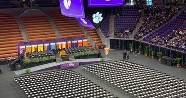 December 2019 graduation ceremony at Littlejohn Coliseum on the Clemson University campus