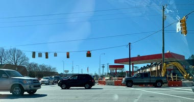 Traffic at the intersection of Woodruff Road and Garlington Road in Greenville SC.