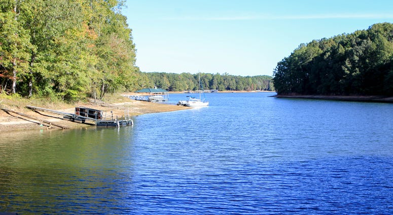 Body found in car in Lake Hartwell.  The view of Lake Hartwell from an Airbnb off Highway 24 in Townville. Lake Hartwell