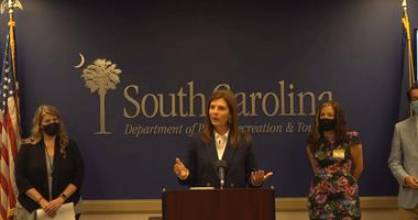 Lt Governor Evette Speaks at Press Conference