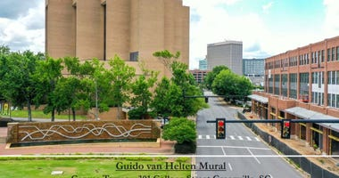 Guido van Helten Mural Project - The Beach Company/City of Greenville