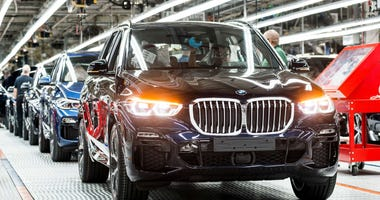Production line at BMW Manufacturing North America in Greer, SC.