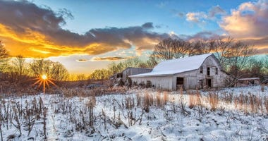 """Snow Barn,""  Friends of Lake Robinson photography winner.  Photo by Chip Sloan."