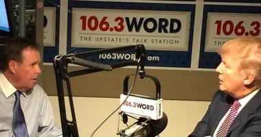 February 2016, Bob McLain Interviewing Trump at the WORD studio
