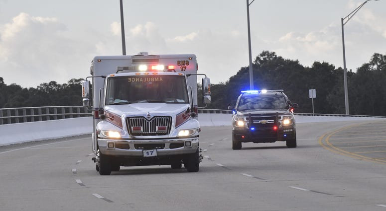 First responders arrive at NAS Pensacola following Active shooter incident at Naval base on Friday.