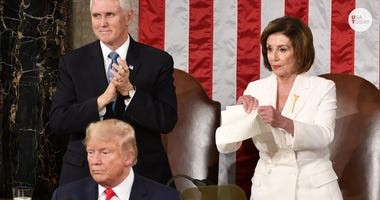 Speaker Nancy Pelosi rips up Pres. Trump's State of the Union speech