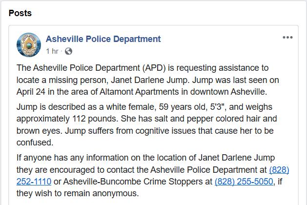 Janet Darlene Jump - FB Post