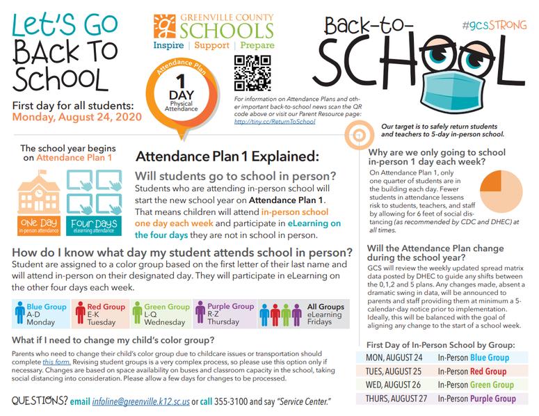 GCS Back to School Plan - GCS
