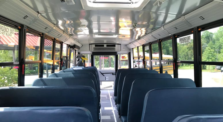 Bus Interior from Front - Emily Gill