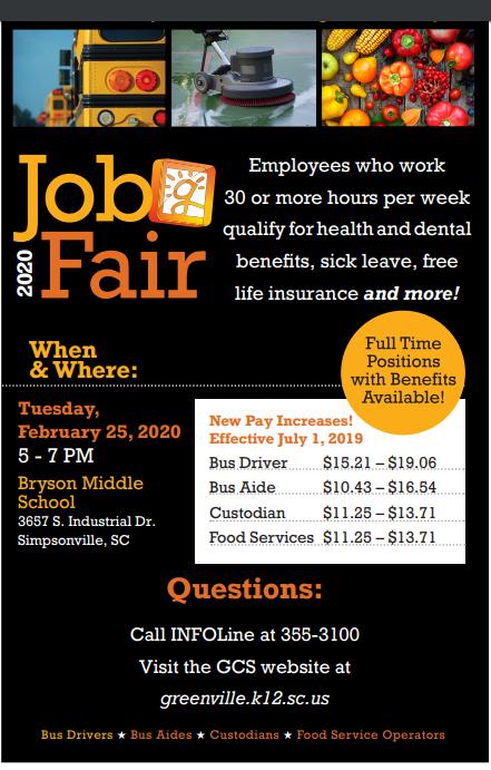 GCS Job Fair flyer