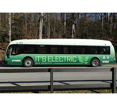 Greenlink's new electric Proterra buses